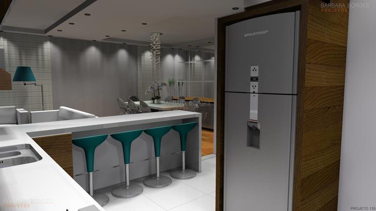 revistas de arquitetura armario parede cozinha