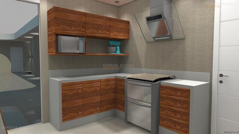 Armario Planejado Cozinha  Barbara Borges Projetos # Armario De Cozinha Semi Planejado