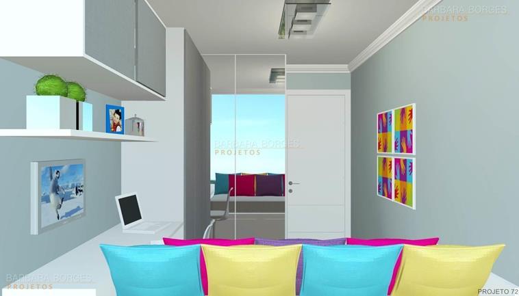 sala de estar decoração armario quarto