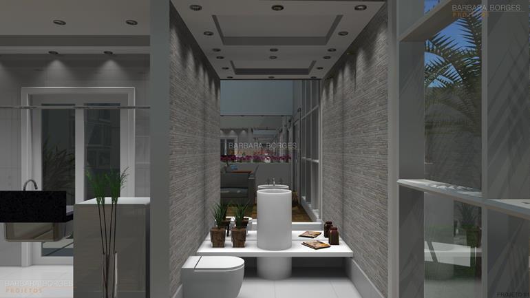 projeto de lanchonete armarios banheiro