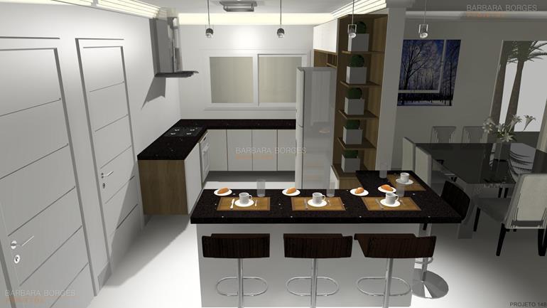Decoração Apartamentos armarios cozinha planejados