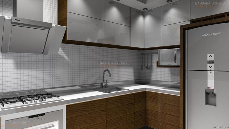 Armarios Planejados Cozinha  Barbara Borges Projetos # Armario De Cozinha Semi Planejado