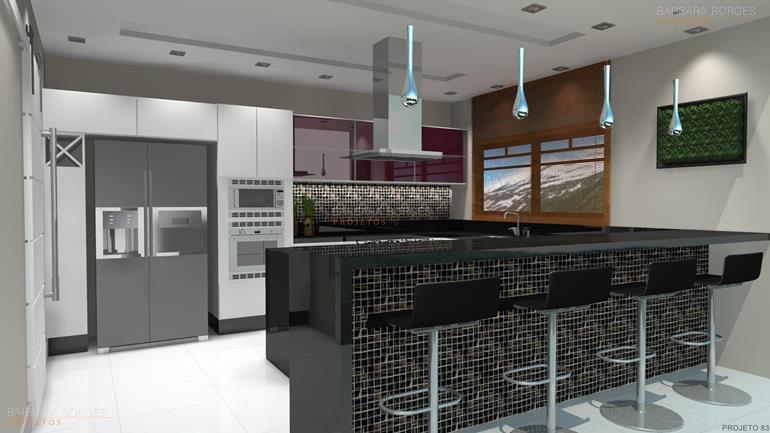 areas de lazer com churrasqueira armarios planejados cozinha