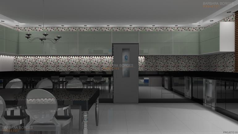 Projetos Arquitetonicos de Casas balcão cozinha