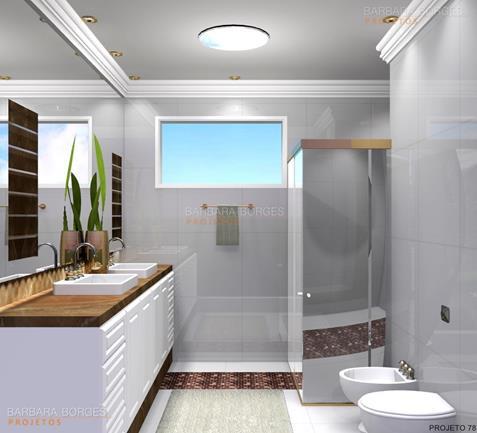 área externa com churrasqueira banheiro decorado