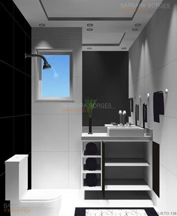 armários para quarto banheiro luxo