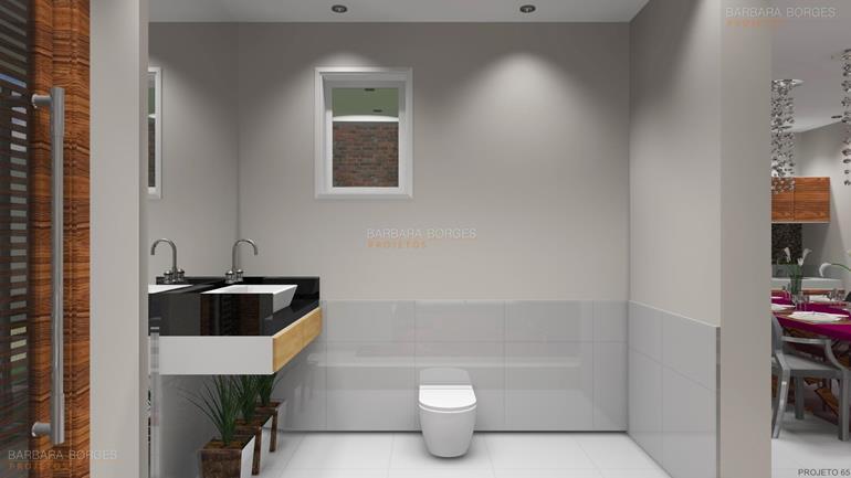 Banheiro Pastilhas Vidro  Barbara Borges Projetos -> Banheiros Planejados Favorita