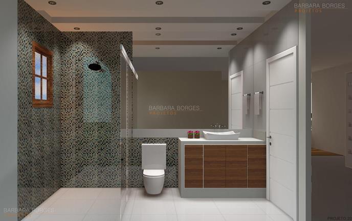 Banheiro Simples  Barbara Borges Projetos -> Projeto Banheiro Simples