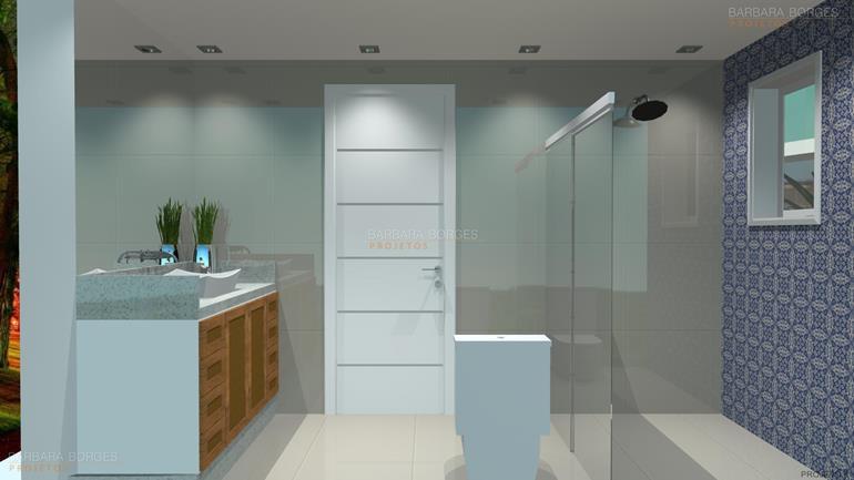 Banheiros Modernos  Barbara Borges Projetos -> Banheiros Sociais Modernos