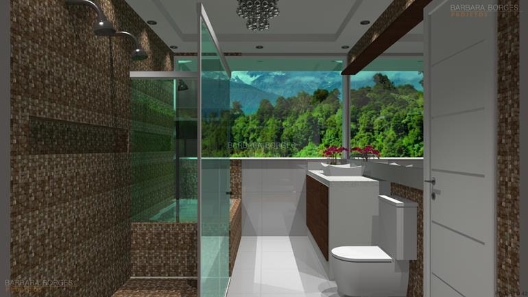 Banheiros Modernos  Barbara Borges Projetos -> Banheiro Pequeno Metragem