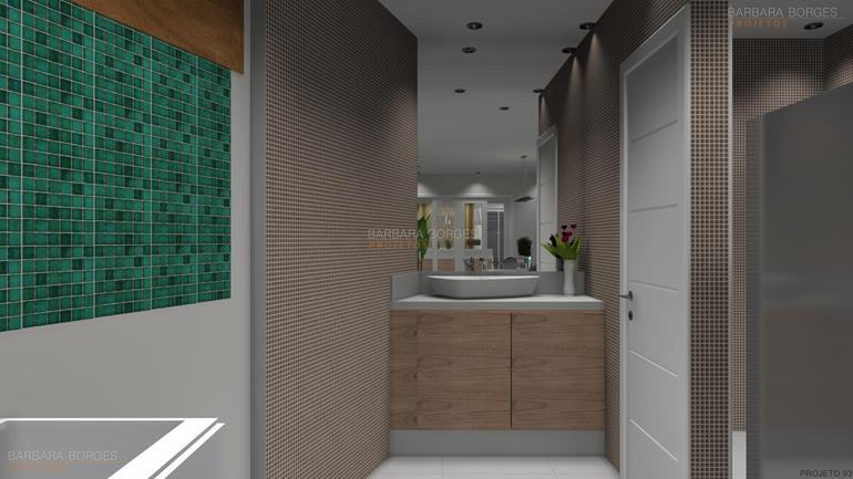 Banheiros Pequenos  Barbara Borges Projetos -> Banheiro Pequeno Projeto