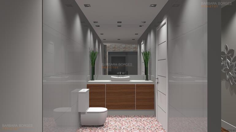 Banheiros Pequenos Modernos  Barbara Borges Projetos -> Banheiros Modernos Pequenos E Baratos
