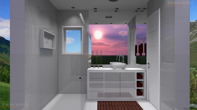 cozinhas planejadas com ilha banheiros pequenos modernos
