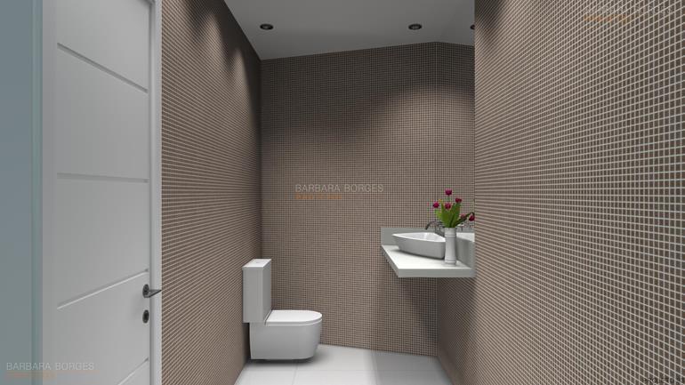 Banheiros Pequenos Modernos  Barbara Borges Projetos -> Banheiro Pequeno Projeto