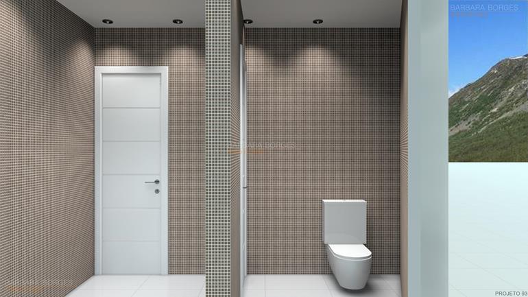 Banheiros Pequenos Planejados  Barbara Borges Projetos -> Banheiro Pequeno Projeto
