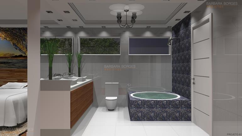 conjunto de sala de jantar banheiros planejados