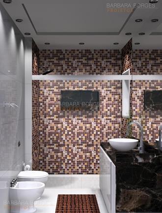 ideias decoração de interiores banheiros planejados pequenos