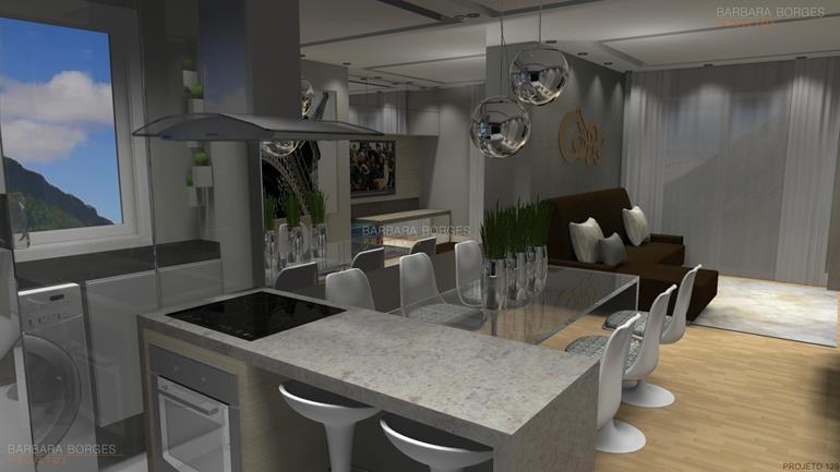 cozinhas com pastilhas de vidro banquetas cozinha