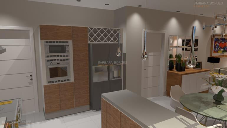 cozinhas planejadas com ilha banquetas cozinha