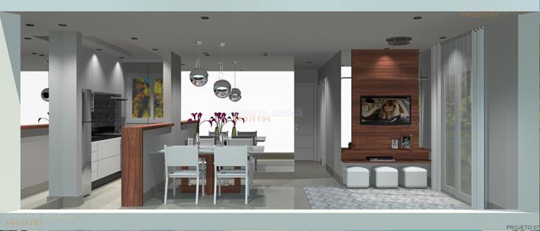 decoração de apartamento pequenos bar sala