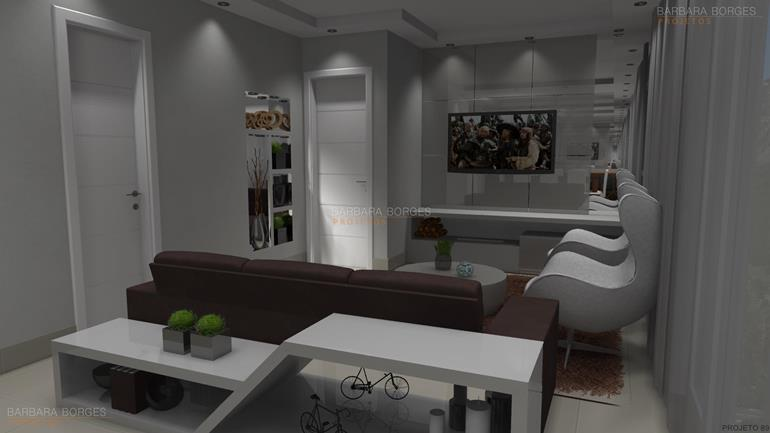 Blog Decoraç u00e3o Interiores Barbara Borges Projetos -> Decoração De Pequenos Apartamentos Fotos