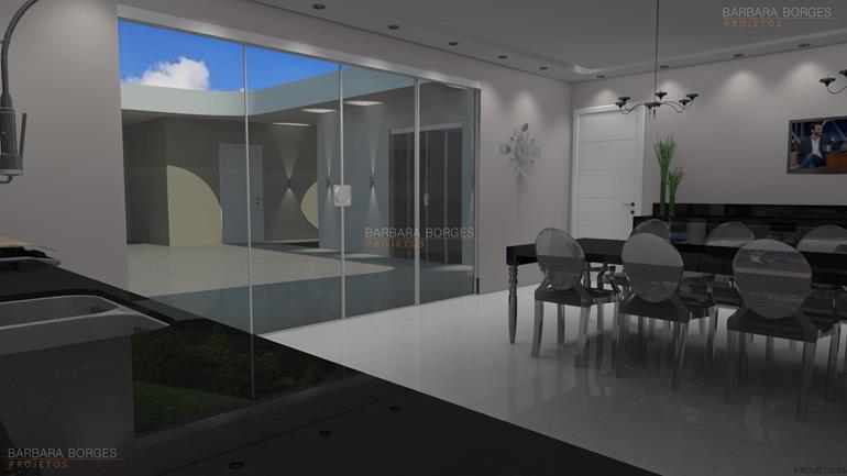 decoração de salas modernas cadeiras cozinha