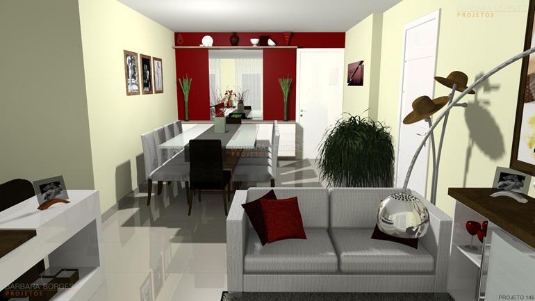 decoração sala de jantar pequena cadeiras madeira