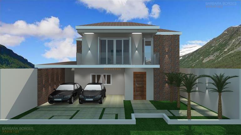 Casa 131m2 3 quartos 1 suite 2 banheiros barbara projetos for Fachadas de casas modernas de 2 quartos