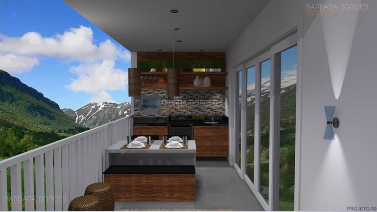projeto de cozinha americana casa jardim