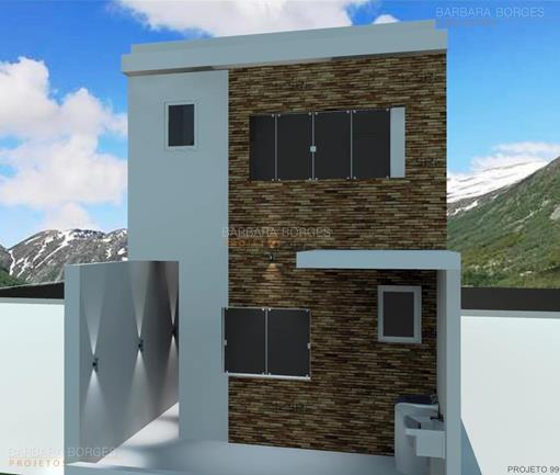 Casa pequena 2 quartos barbara borges projetos - Imagenes de fachadas de casas pequenas de un piso ...