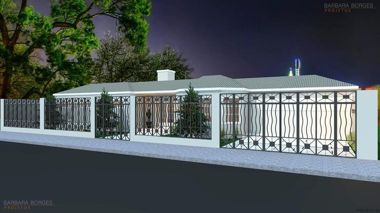 plantas de ediculas casa terrea fachada pedra