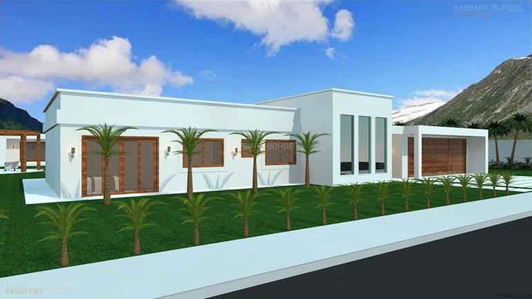 planta em 3d casa terrea fachada pedra