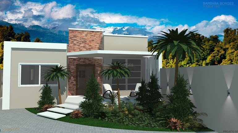 plantas de ediculas casas 1 vaga garagem
