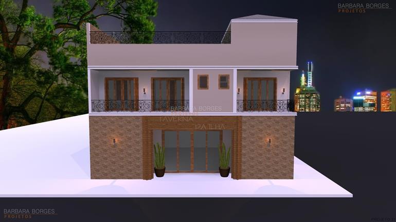 salas projetadas casas 1 vaga garagem