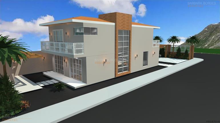 salas projetadas casas 11 metros frente