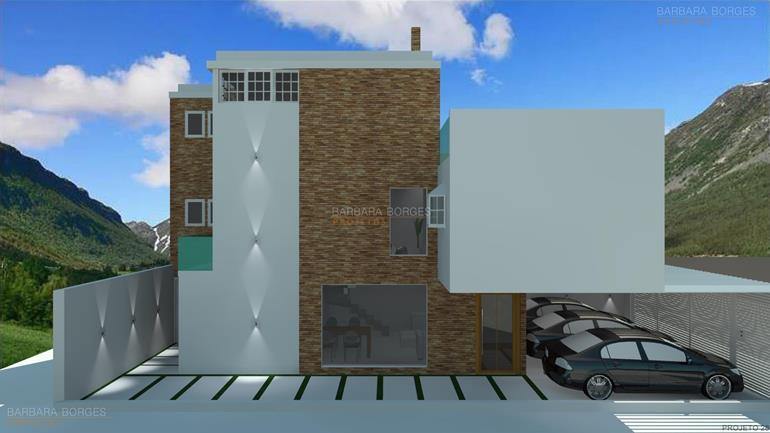 casas geminadas projetos casas 12 metros frente