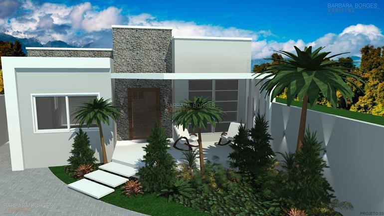 projetos de pousadas casas 13 metros frente