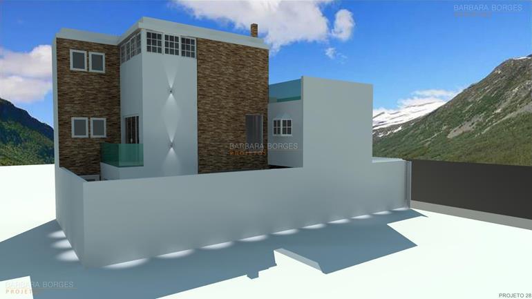 projetos de restaurantes casas 13 metros frente