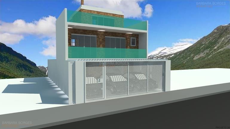 projeto casas populares casas 15 metros frente