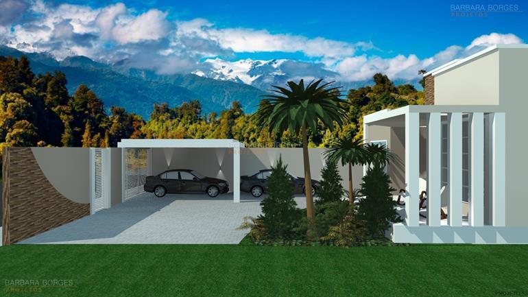 ambientes pequenos casas 3 vagas garagem