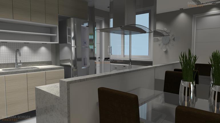 balcões para cozinha casas armario embutido