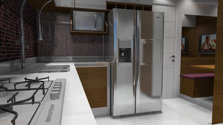 banheiros projetados casas cozinha americana