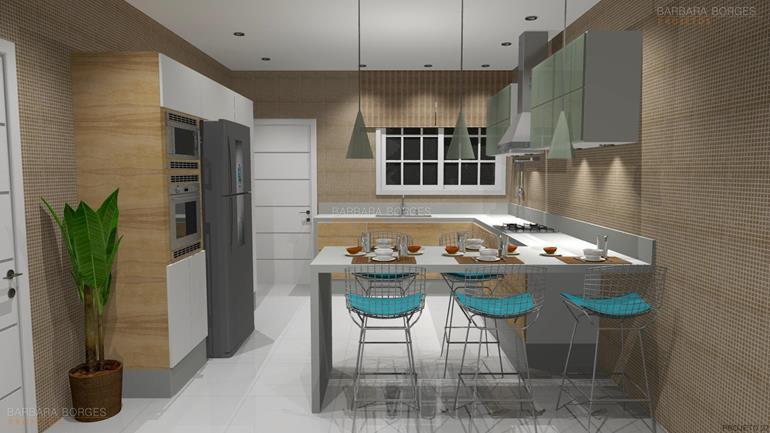 churrasqueira embutida casas cozinha ilha