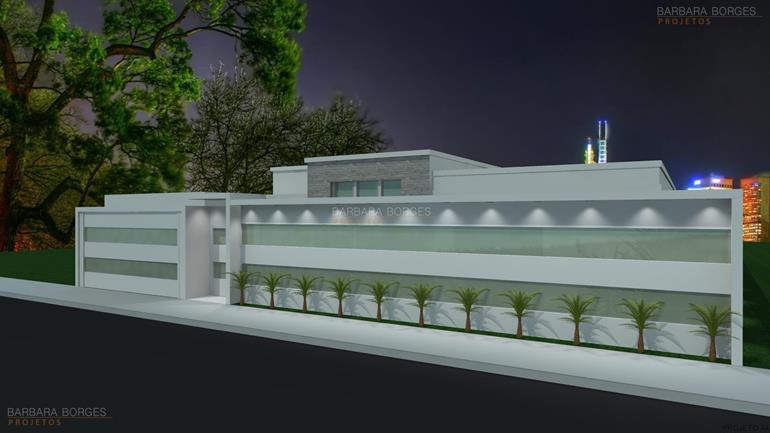 construções e reformas casas fachada contemporaneo