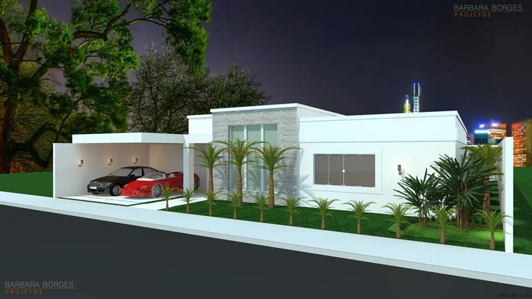 cosinha planejada casas fachada moderna