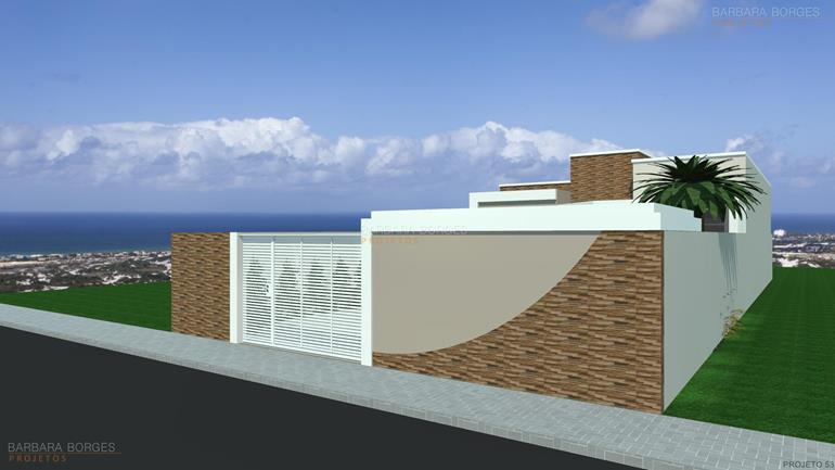 Casas fachada simples barbara borges projetos for Fotos de fachadas de casas andaluzas