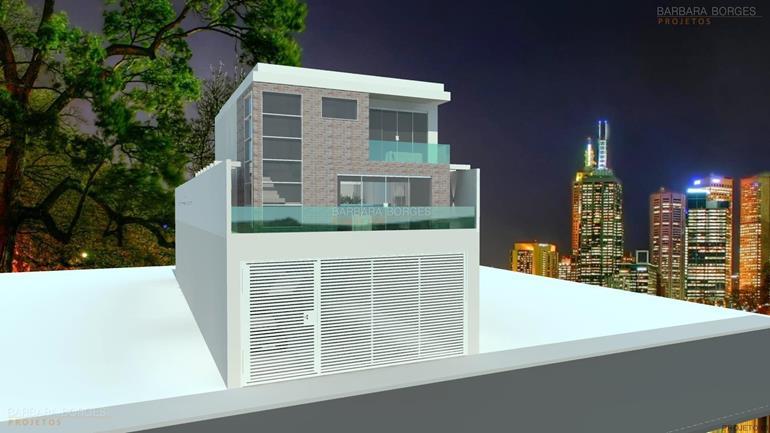 construções e reformas casas fachada tijolo vista