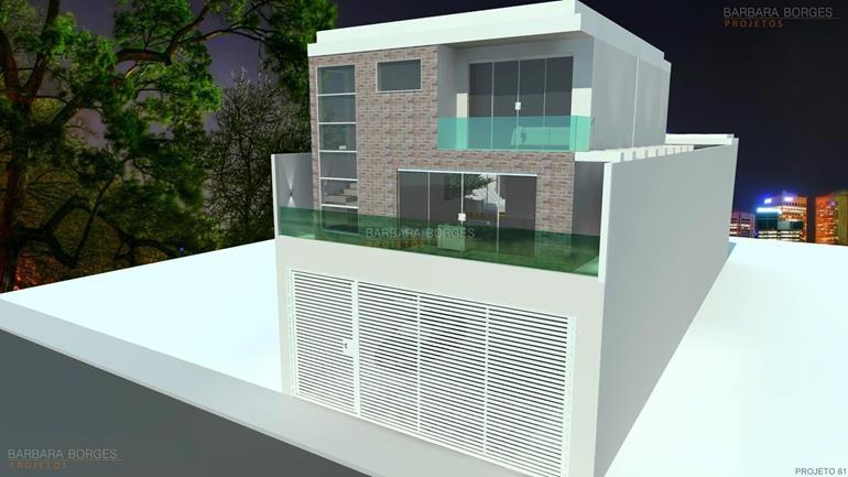 cosinha planejada casas fachada tijolos aparentes