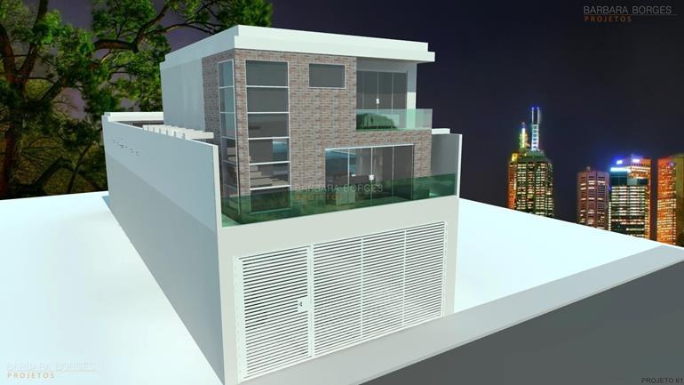 cosinhas planejadas casas fachada vidro