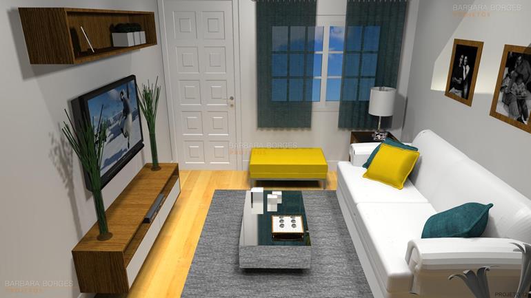 decoração sala de estar e jantar casas lareira